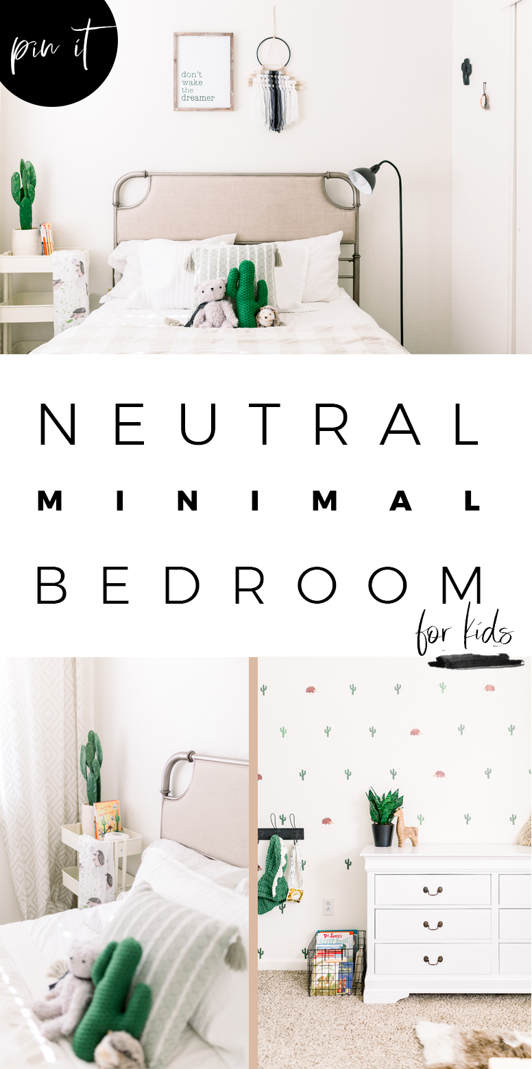 Neutral Minimal Bedroom for Kids