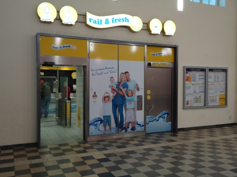 Neue rail  fresh WCAnlage im Bahnhof KlnDeutz