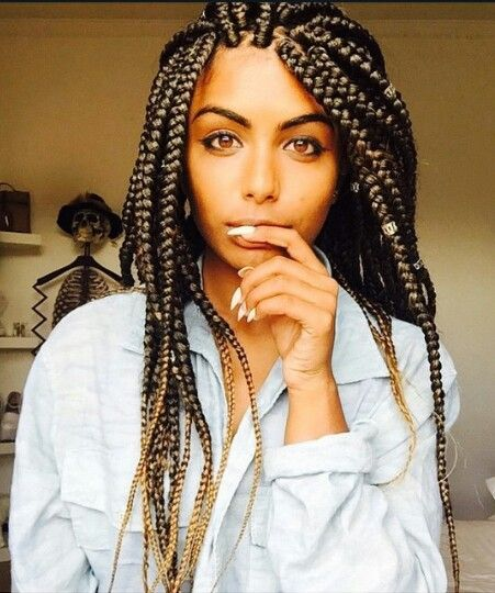 40 Big Box Braids Styles Herinterest Com