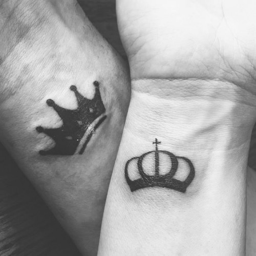 King Crown Tattoo On Hand For Men