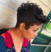 short curly hairstyles black