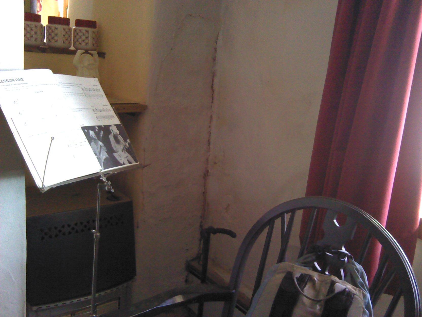 hight resolution of corner of room suffering condensation