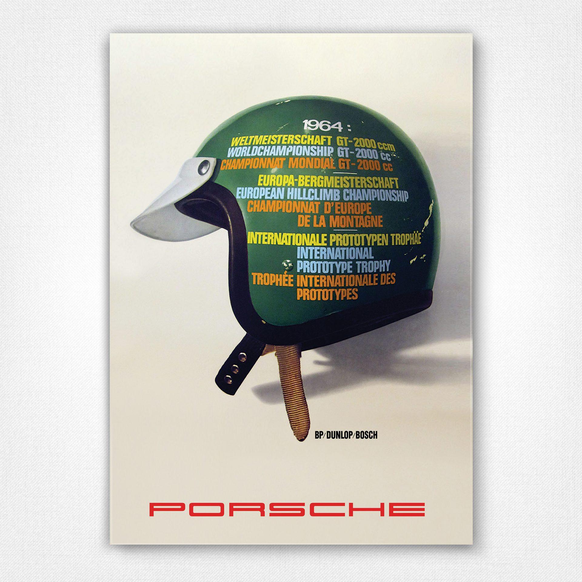 a2 print vintage porsche advertising