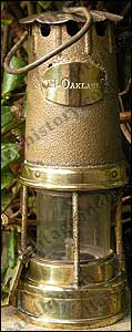 Safety lamp - about 20cm tall