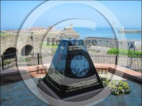The memorial is just blow the pit head and looking out to sea