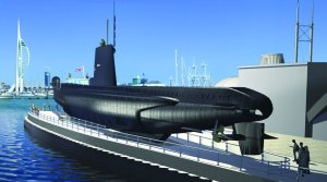 Artist's illustration showing how the completed HMS Alliance is expected to look. Pic: Royal Navy Submarine Museum