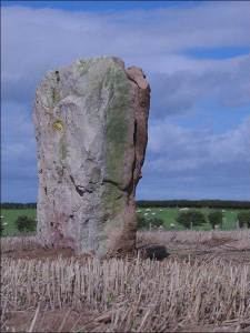 The standing stone is known as Wade's Stone after the giant that, according to local legend, lived in the area. Pic NYMNP