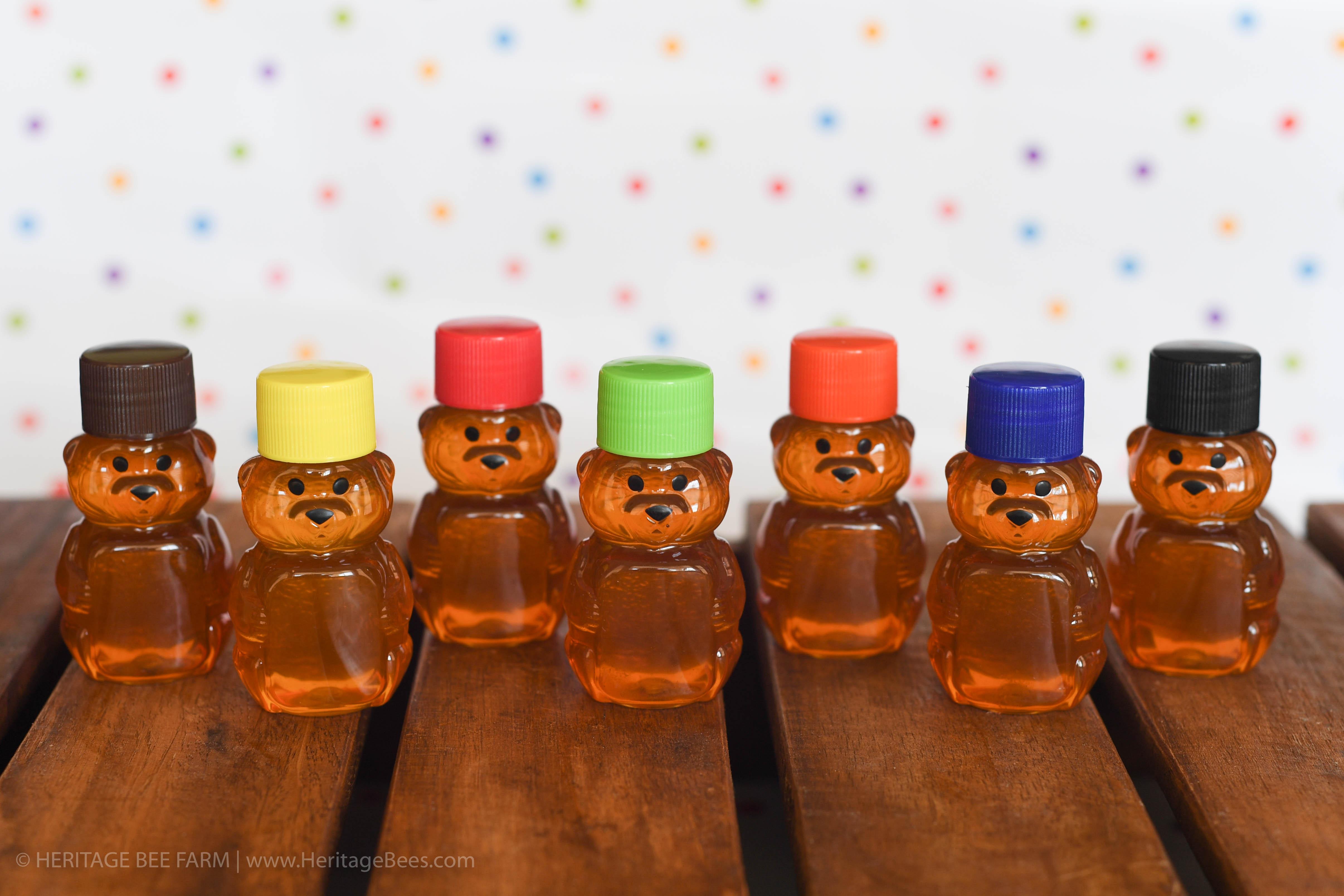 Mini Bears 100 Raw Honey 2 Oz