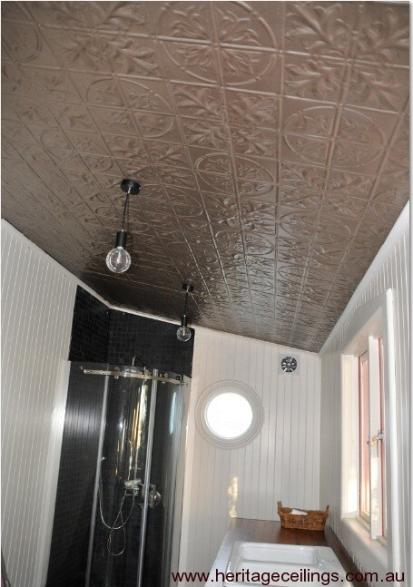 Decorative Ceiling Project Using Pressed Metal Panels
