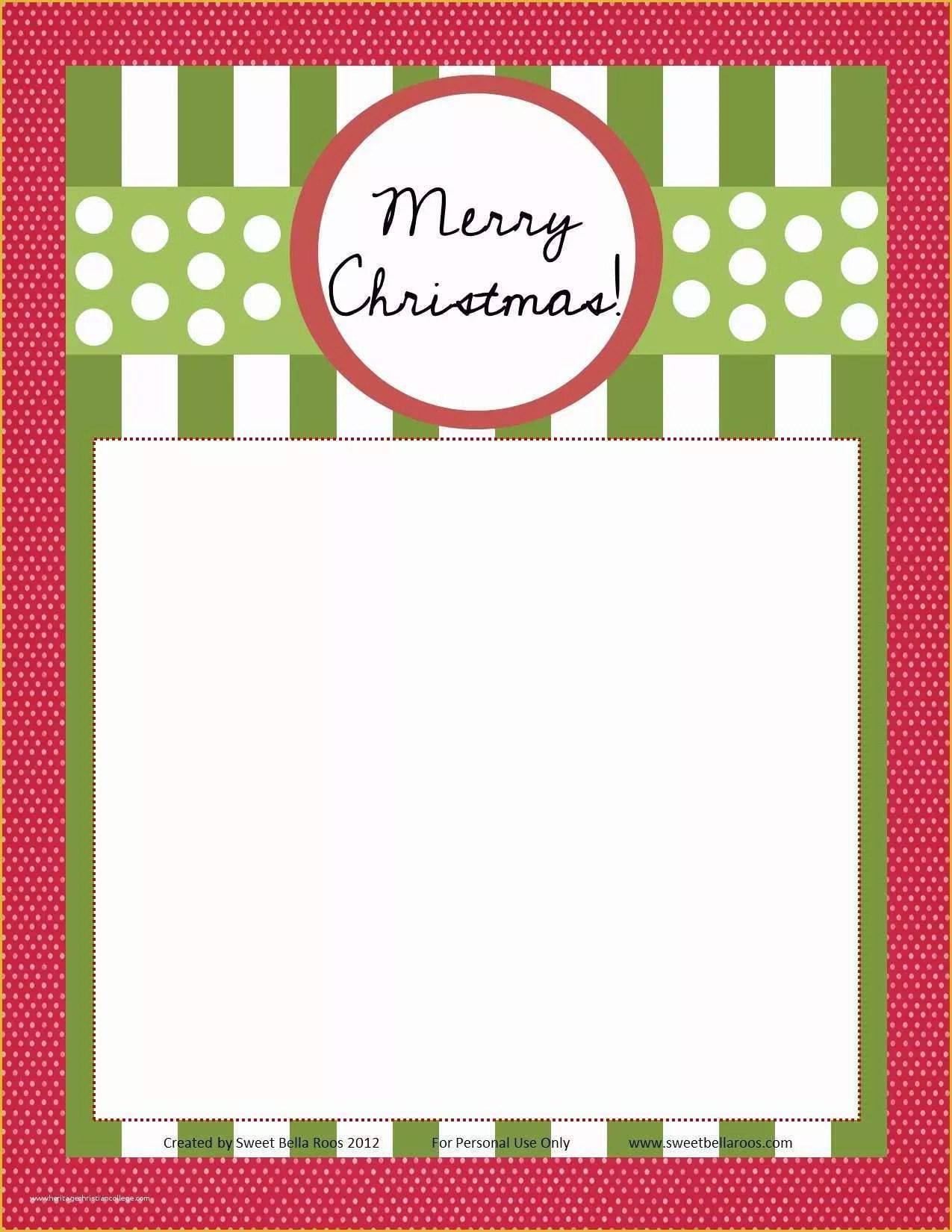 Dear Santa Letter Template Free Of Free Printable Dear