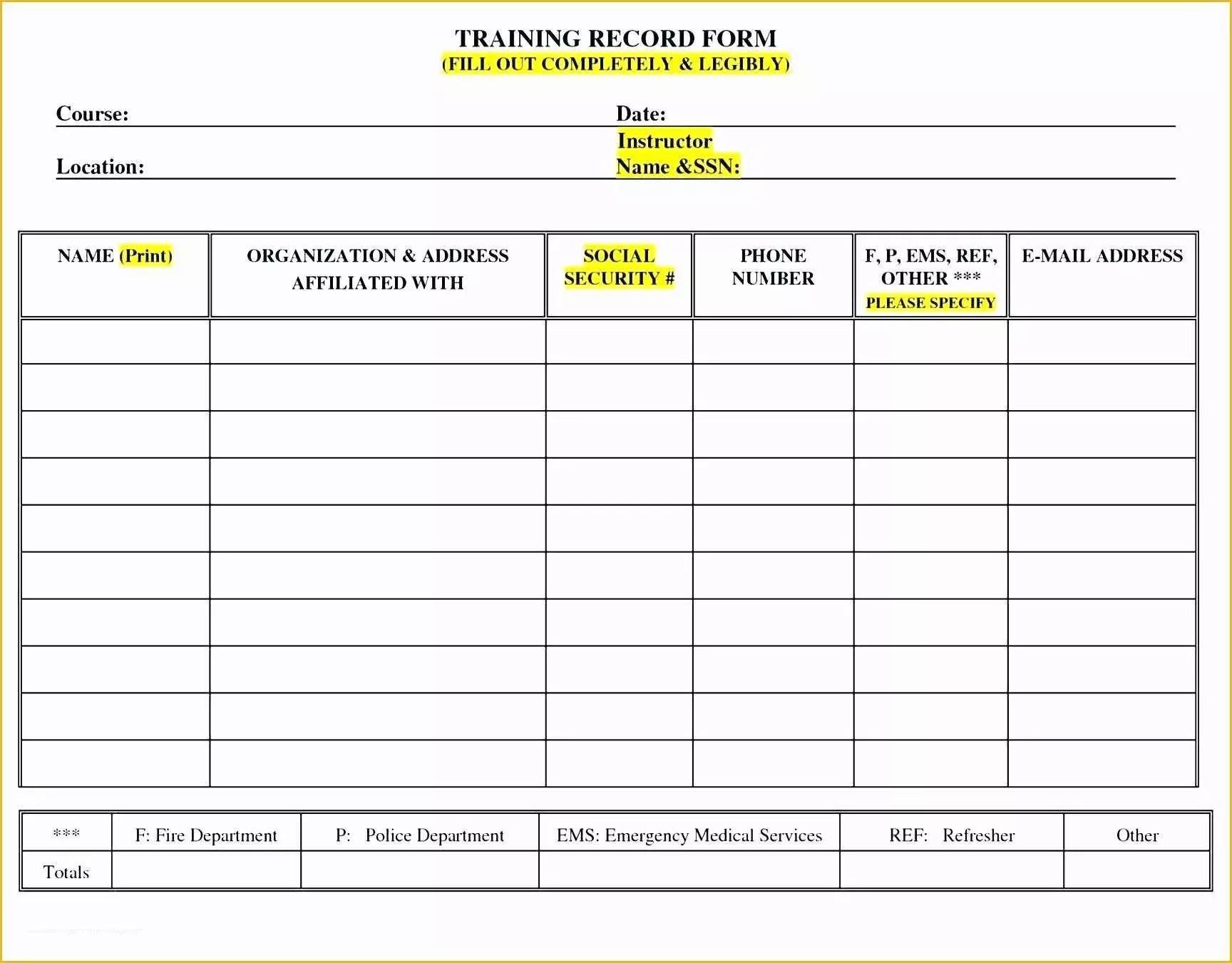 Free Employee Training Matrix Template Excel Of Staff