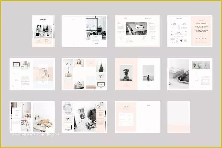 free indesign photography portfolio