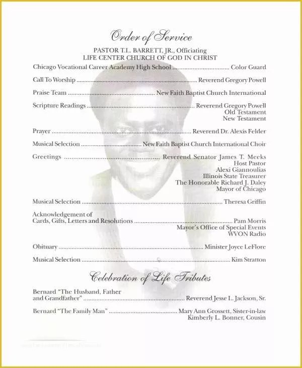 Free Obituary Program Template Download Of Free Obituary