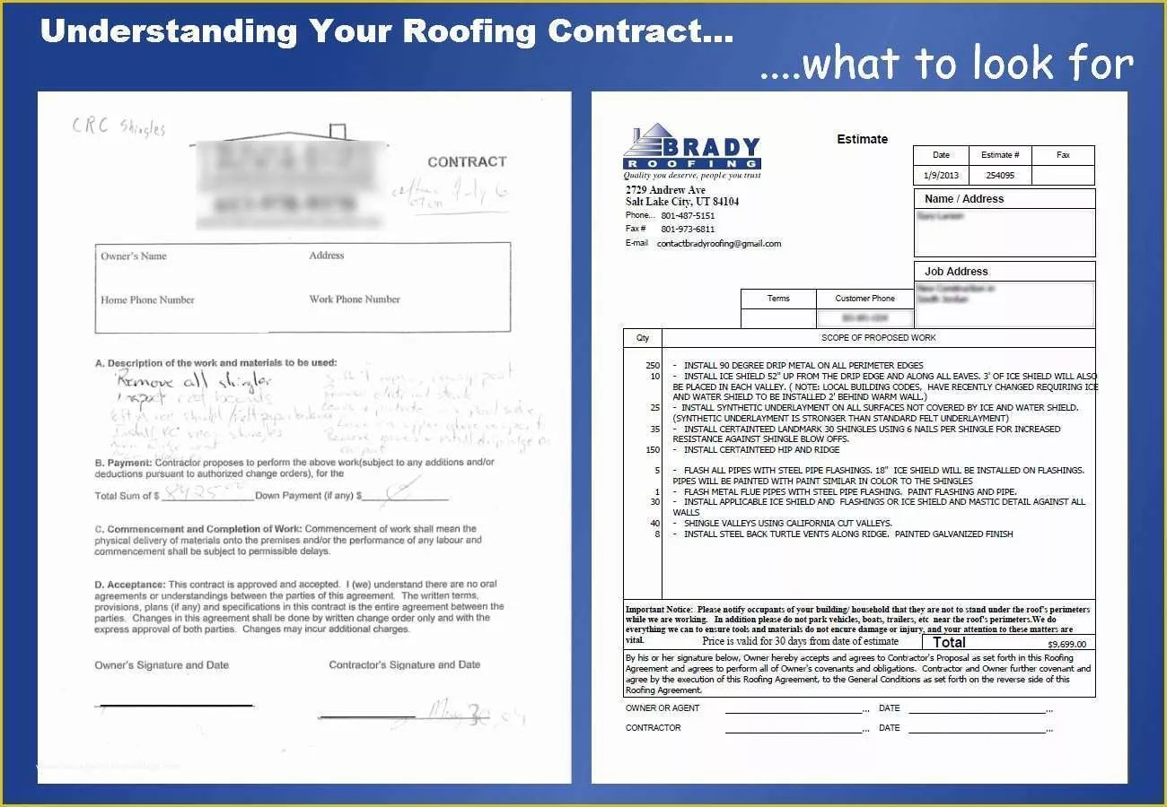 Free Roofing Estimate Template Of Free Contractor Estimate