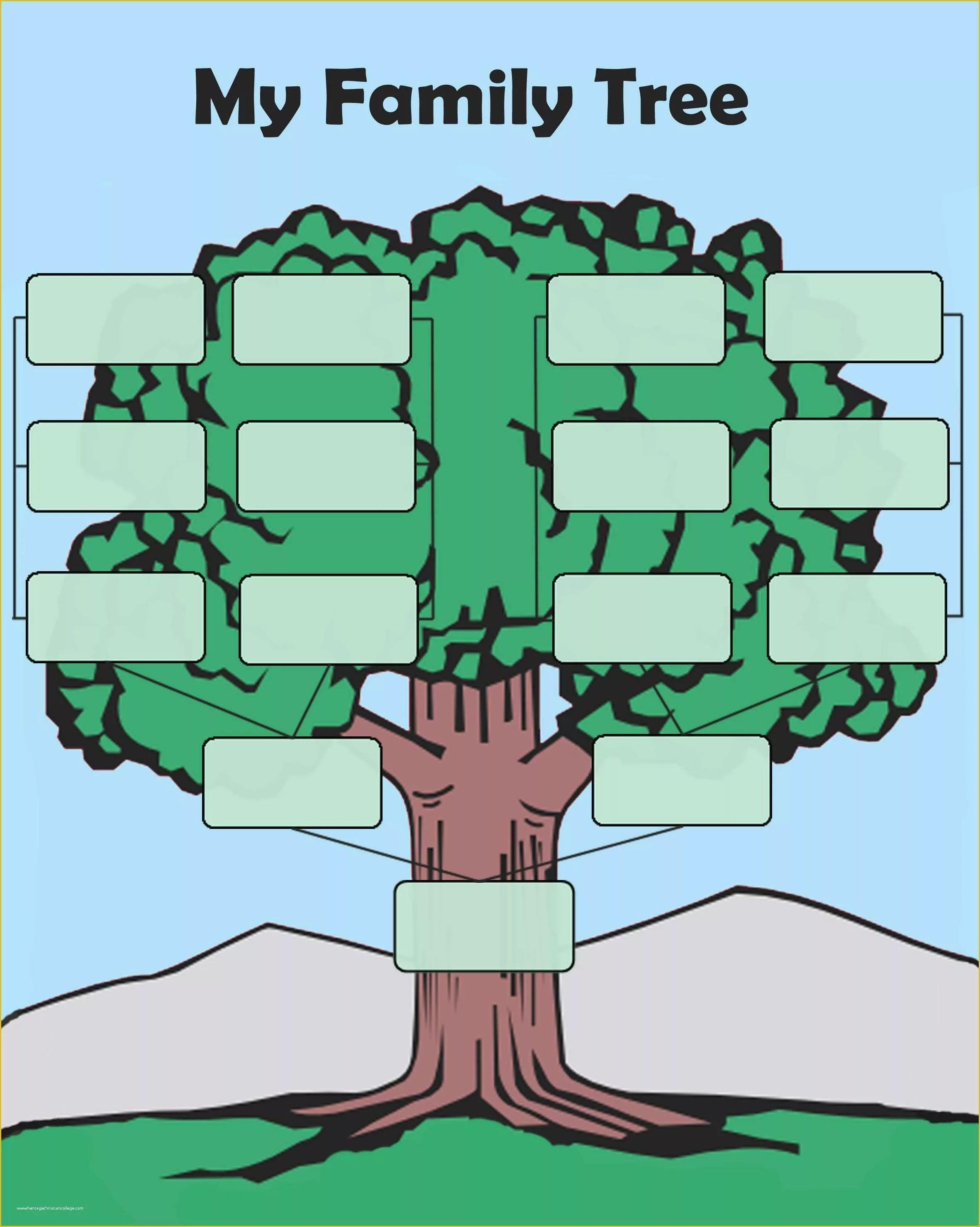 Free Tree Map Templates Of Free Editable Family Tree