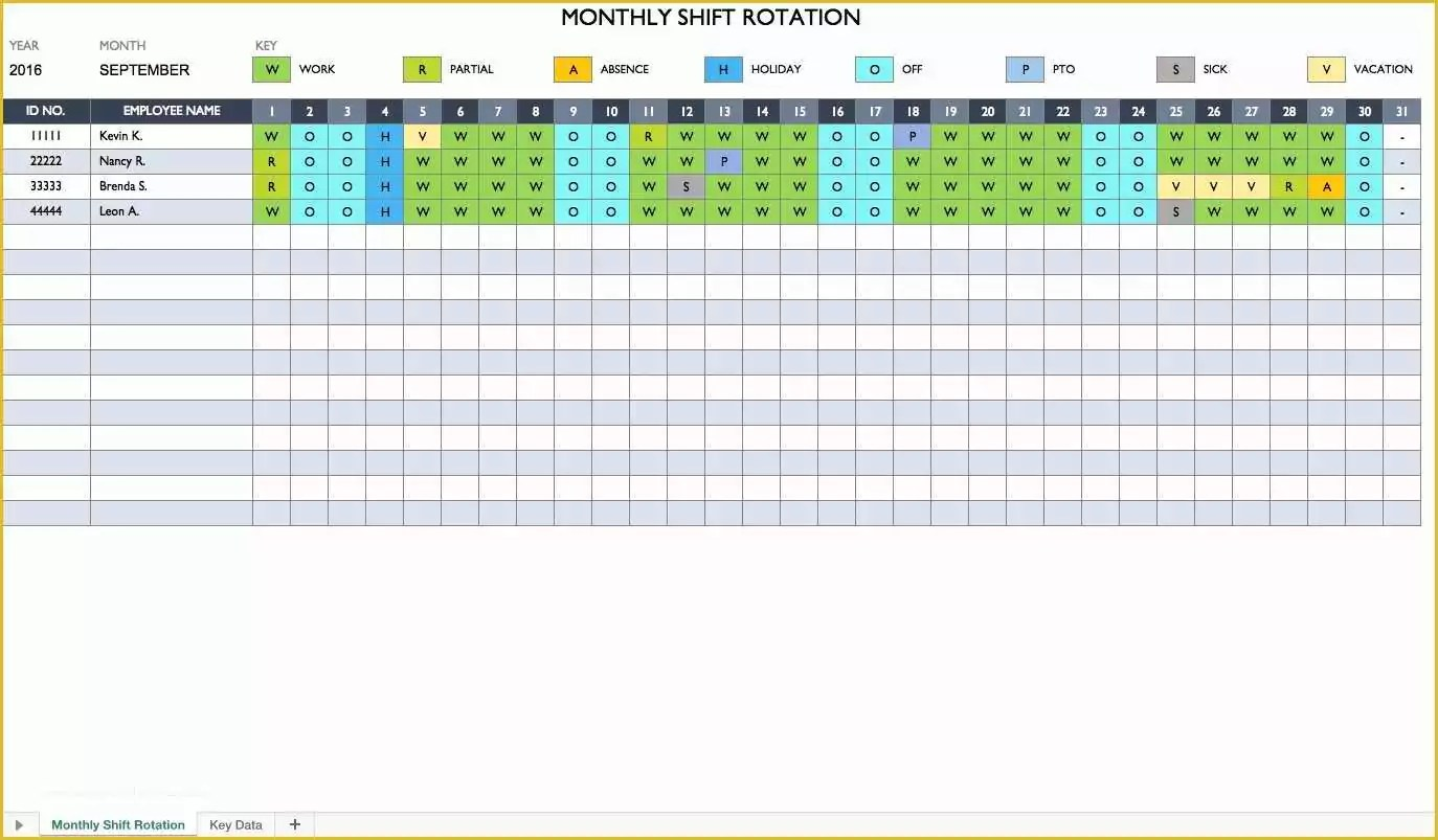 57 Excel Work Schedule Template Free