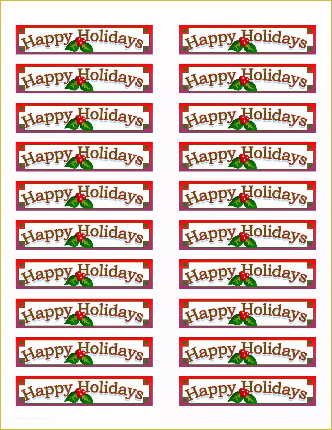 free holiday return address
