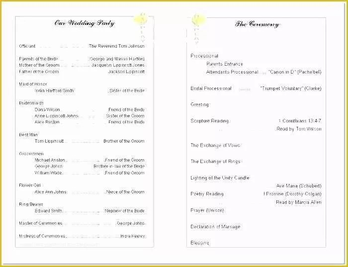 Free Printable Program Templates for Church Of 8 Best Of