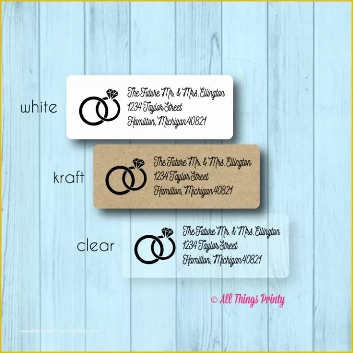 free wedding address label