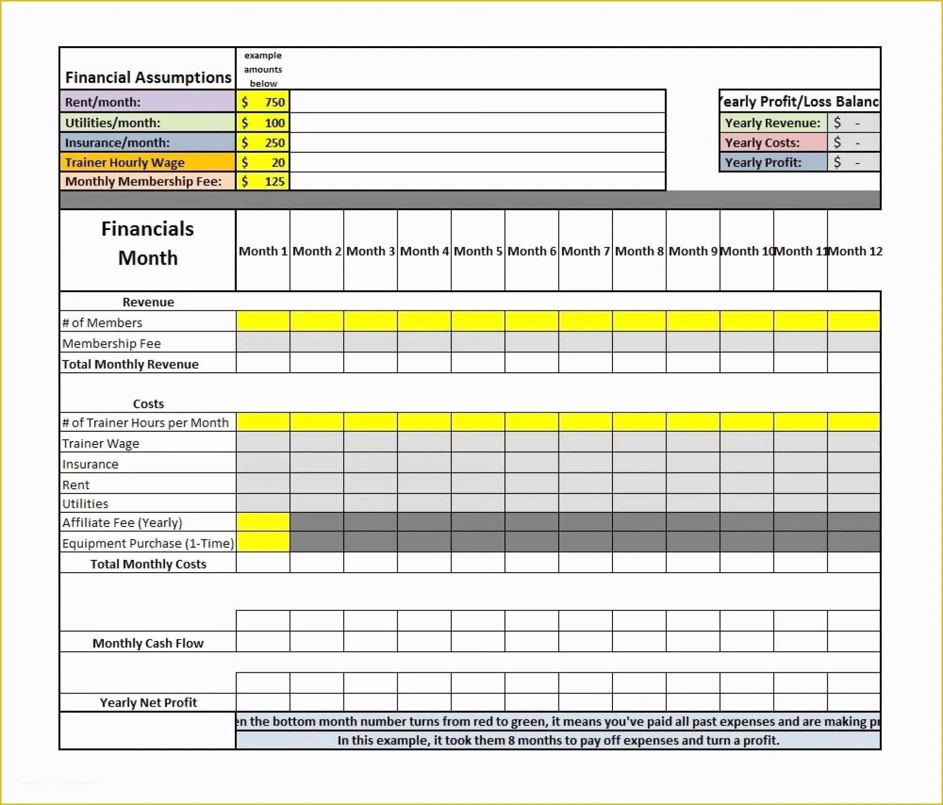 Profit And Loss Statement Excel Template Free Of