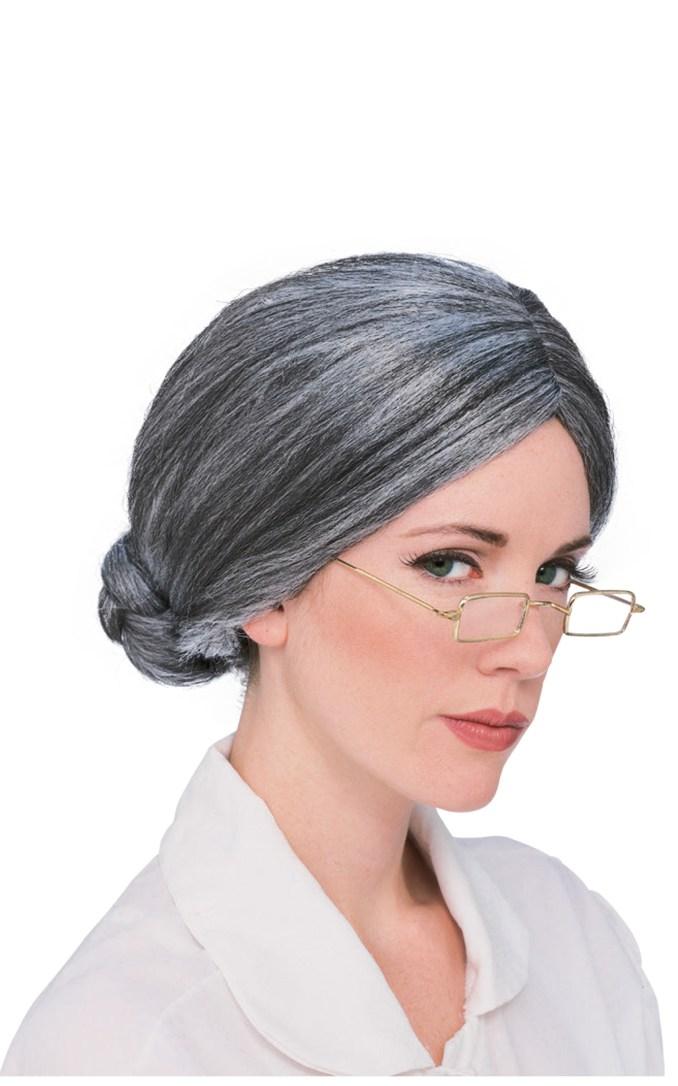 susan b. anthony wig grey