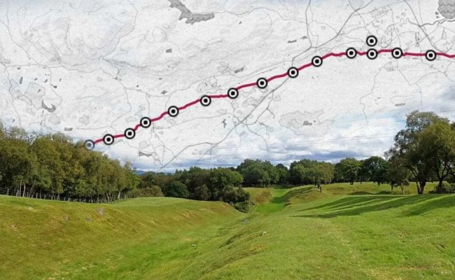 Roman Forts Fortlets Of The Antonine Wall Interactive