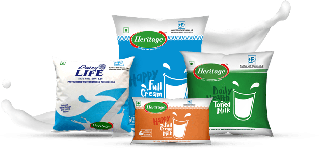 Dairy Products Delivery Heritage Foods Limited