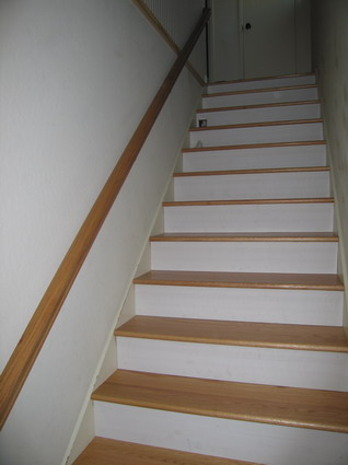 Sample of boxed stairs These treads are solid and are