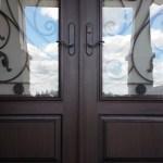 Fibreglass door closeup