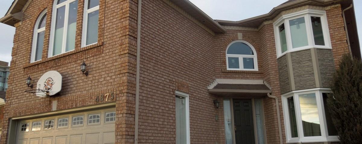 After the window and garage door renovation