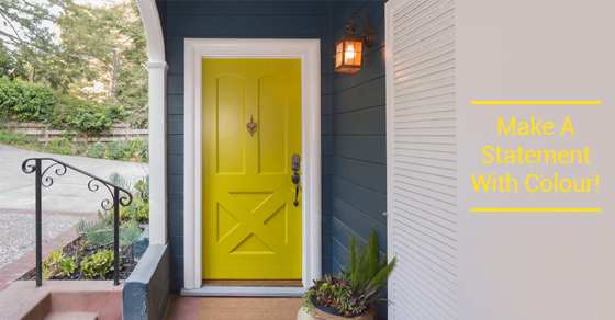 Make A Statement With Door Colour