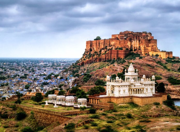 Grandeur of Mehrangarh Fort in Jodhpur.