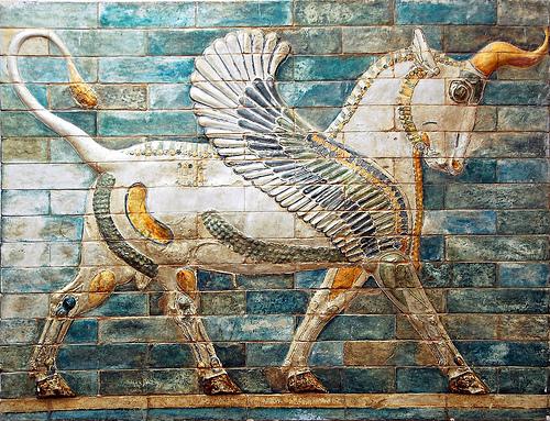 Glazed / enamelled decorative brick frieze from the Apadana