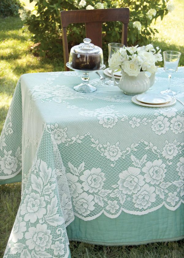 Victorian Rose Rectangle Tablecloth Heritage Lace