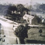 AOS P 0644 Church St, Market Deeping, Hall Farm on the right. Taken from the church tower 1890's