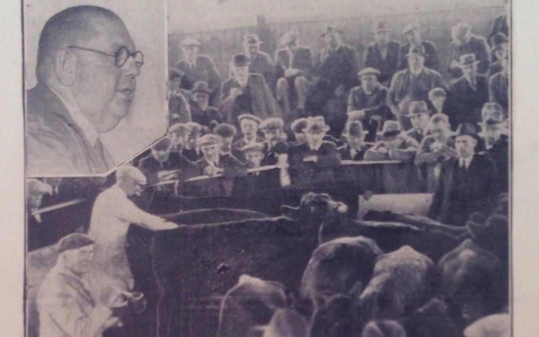 Irish cattle sale, Spalding 1939