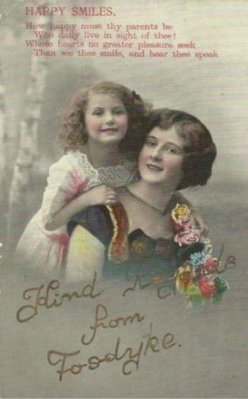 Greetings Postcard from Fosdyke 1910's