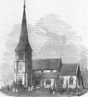 Fosdyke Church Print  1871