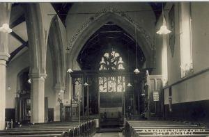 AOS P 2927 WEST PINCHBECK ST. BARTHOLMEWS CHURCH INTERIOR pre 1940