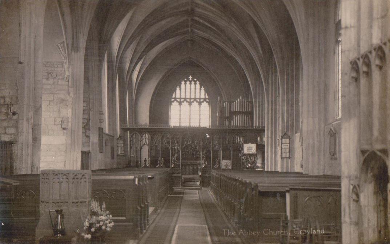 Interior of Crowland Abbey  Postcard