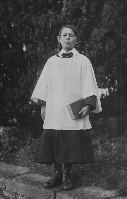 Crowland Abbey Choir Boy, October 30th 1920