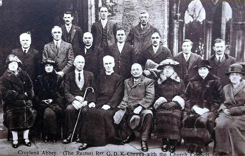 Croyland Abbey Rector Rev G.D.K Clowes & the Church Council 1926