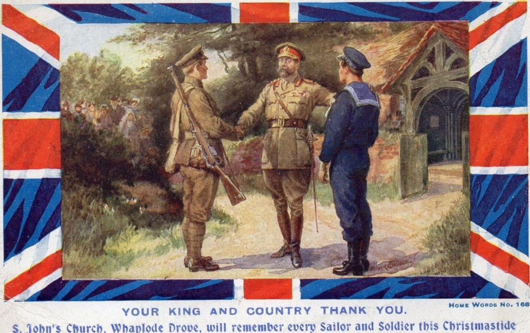 WW1 Printed Card  in conjunction with St. John's Church, Whaplode Drove