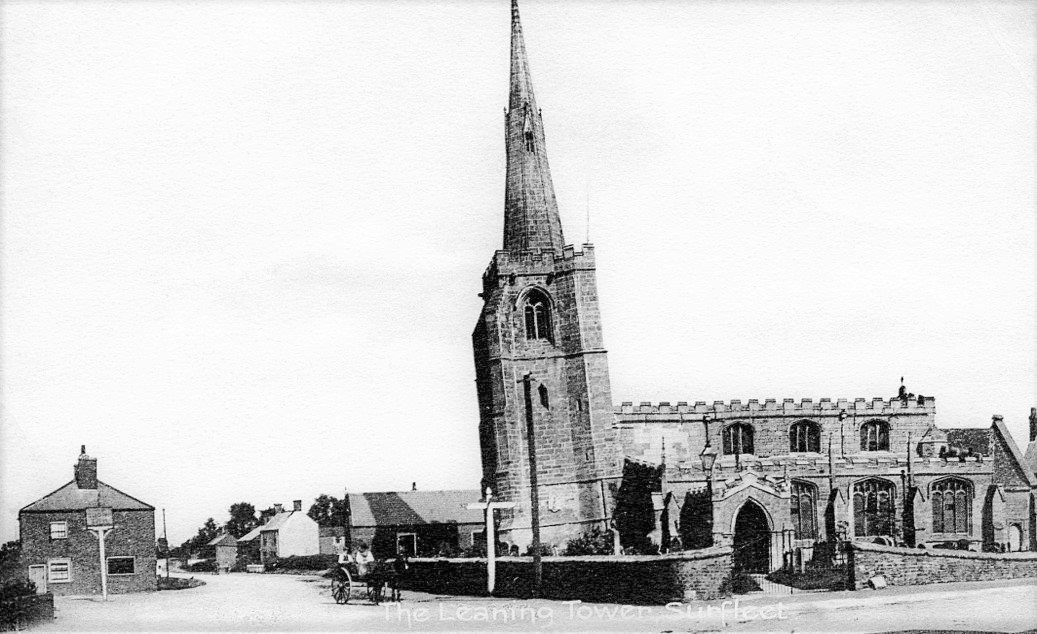 Leaning Spire of St Laurence Church, Surfleet