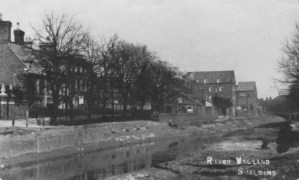 Port of Spalding showing Double St side of the River