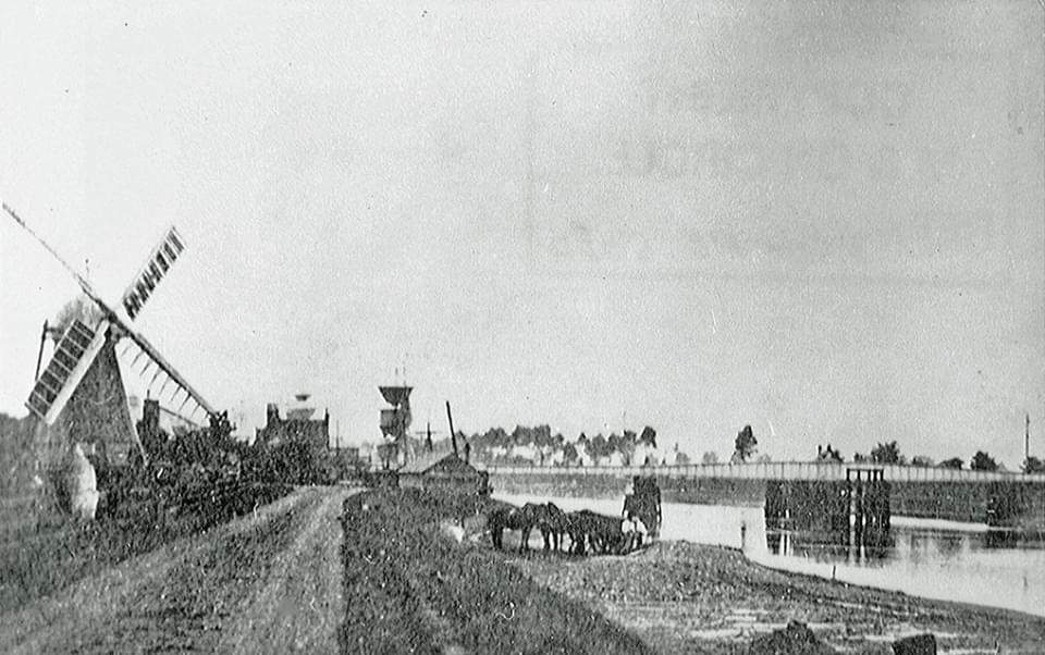 River Bank looking Towards Bridge