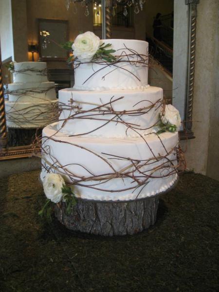 White Rustic Wedding Cake Wedding Cakes