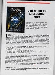 Retour Presse Heritier 2019 - Journal de la Fédération Française des Artistes Prestidigitateurs