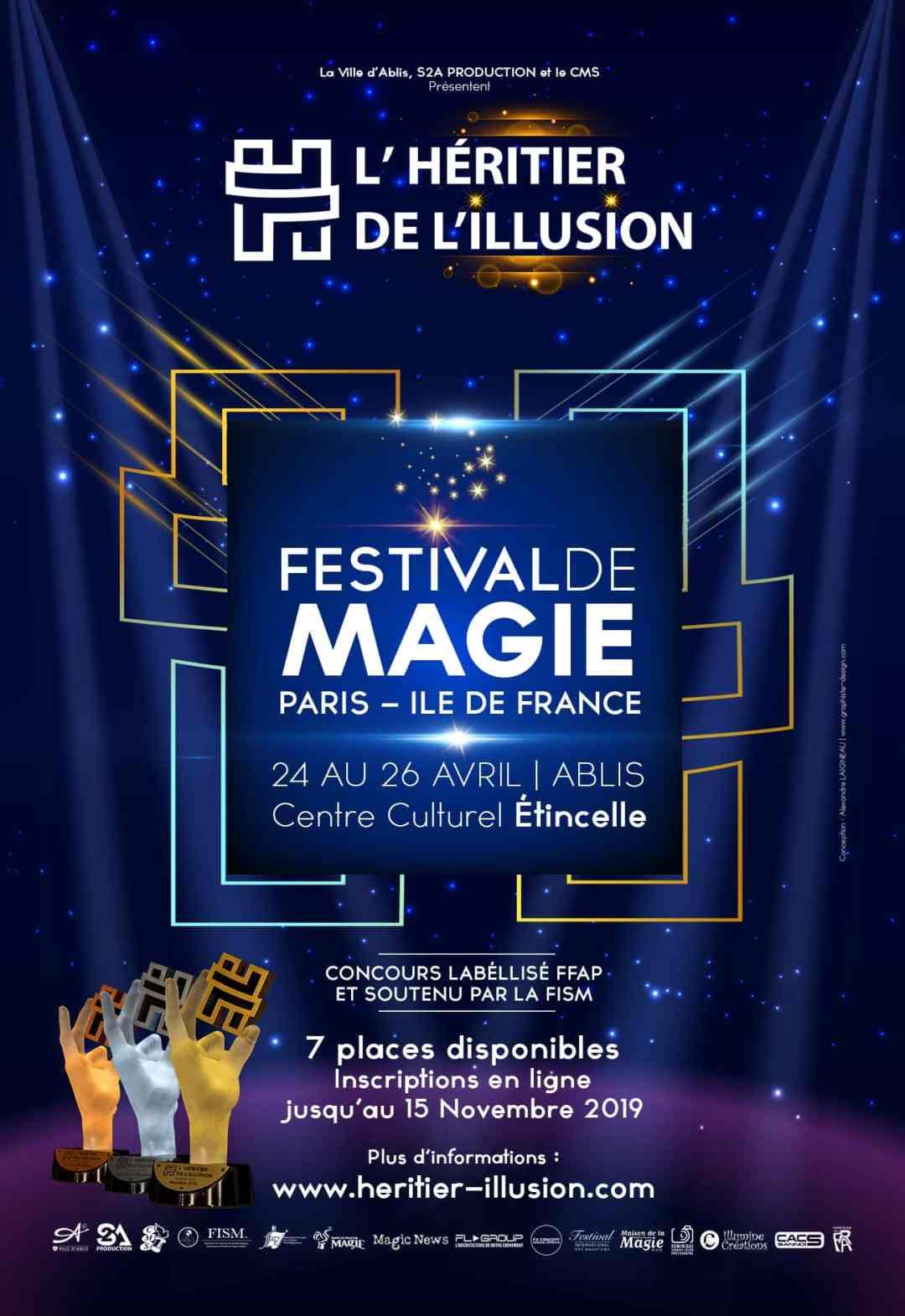 Billetterie et Affiche du concours de l'Héritier de l'Illusion
