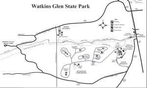 Watkins glen State park map